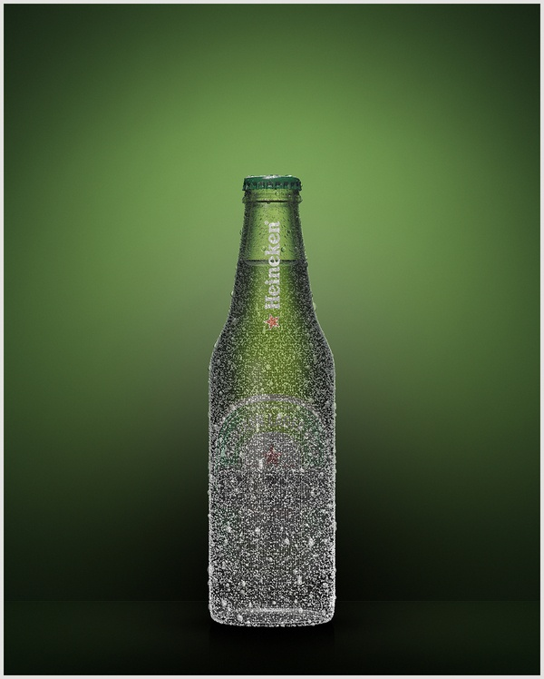 HEINEKEN BOTTLES by Jozef Petrzel, via Behance