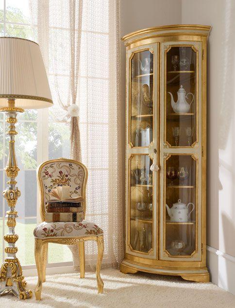 Italian Luxury Dining Room Wood Furniture. Andrea Fanfani Italy. CORNER CABINET.