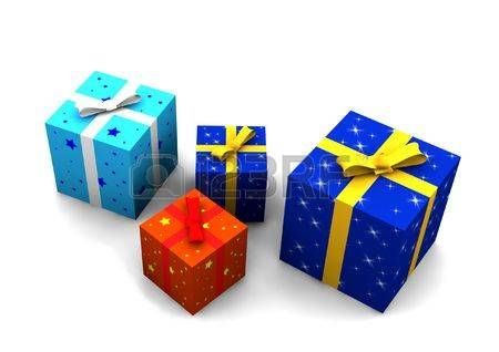 love: Gift boxes - 3d isolated illustration