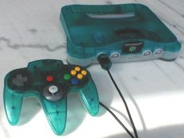 Nintendo 64 Clear Blue edition