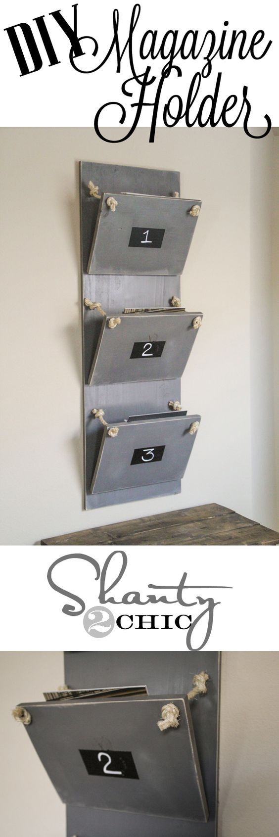 DIY Home Decor - Magazine Holder