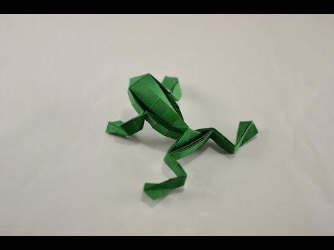 # 56 Origami jumping Frog by Toshikazu Kawasaki - Yakomoga Origami tutorial *****