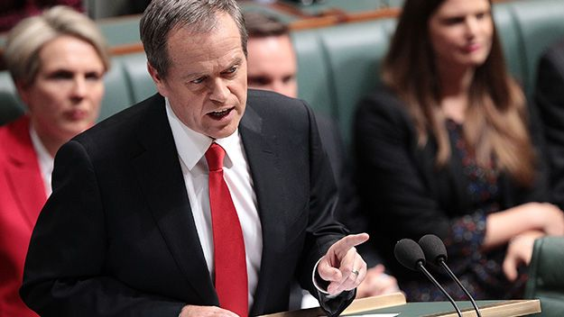 In his Budget Reply Speech, Bill Shorten raises questions about how much of the Abbott government's budget will fall to the floor.