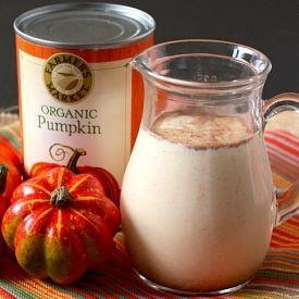 Homemade coffee creamers in fall flavors - pumpkin spice, gingerbread and cinnamon vanilla.