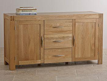 Alto Natural Solid Oak Large Sideboard