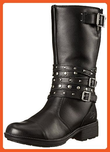 Harley-Davidson Women's Kennedy Work Boot, Black, 7 M US - Boots for