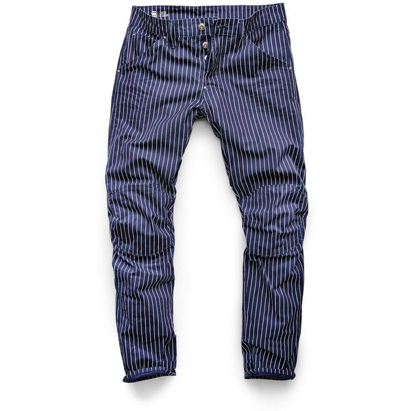 G-Star RAW G-Star Elwood X25 3D Tapered Men's Jeans (4 020 UAH) ❤ liked on Polyvore featuring men's fashion, men's clothing, men's jeans, mens jeans, mens tapered jeans, mens big star jeans, mens striped jeans and mens slim fit tapered jeans