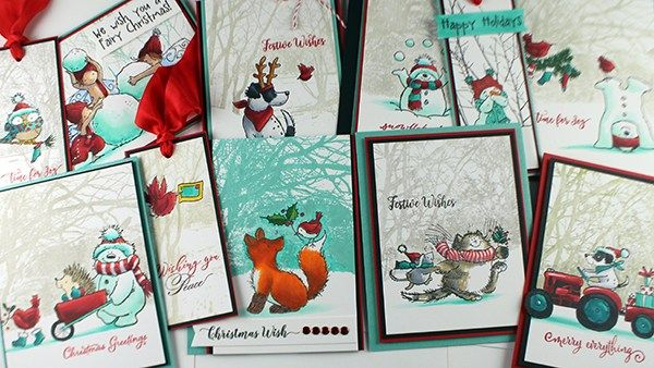 Happy Monday! I have a treat for you this week…..I'm guest-designing with Christmas cards all week over on the Penny Black blog! There's a video on my channel today, of course, bu…
