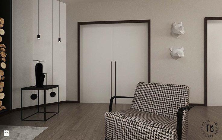 Salon z kominkiem i jadalnią - zdjęcie od Femberg Architektura Wnętrz - Salon - Styl Nowoczesny - Femberg Architektura Wnętrz