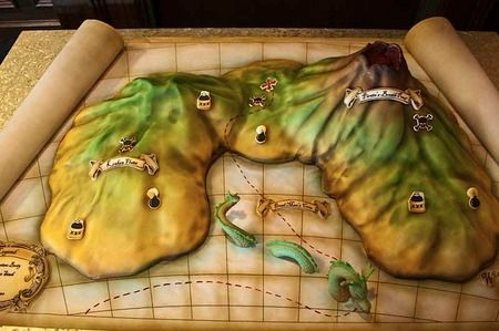 Wedding Cake Rome Map