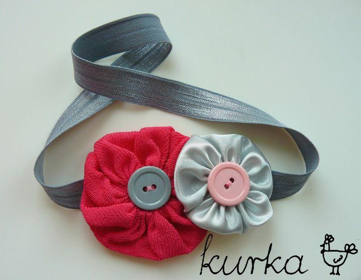 opaska handmade by kurka - róż srebro