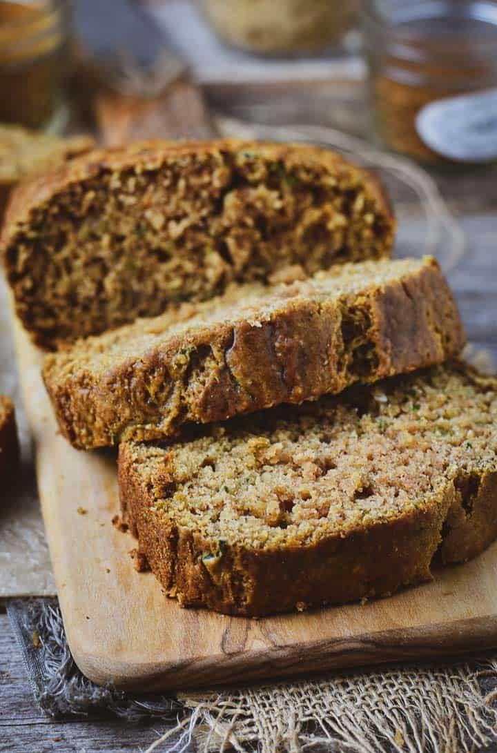 The Best Vegan Zucchini Bread Recipe Cinnamon Nutmeg Combined With Healthy Grated Zucchini To Mak Vegan Zucchini Bread Zucchini Bread Recipes Vegan Zucchini