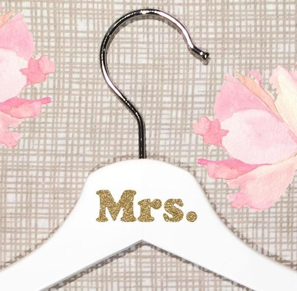 Personalized White Wooden Hangers