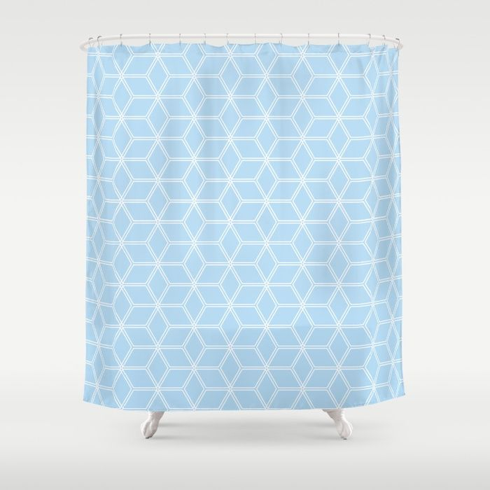 Hive Mind Light Blue 280 Shower Curtain By Natural Collective