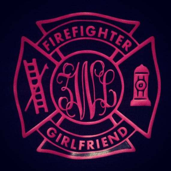 Fire fighter girlfriend, wife, sister, ect. we can do this shirt for anyone who loves their firefighter! on Etsy, $25.00
