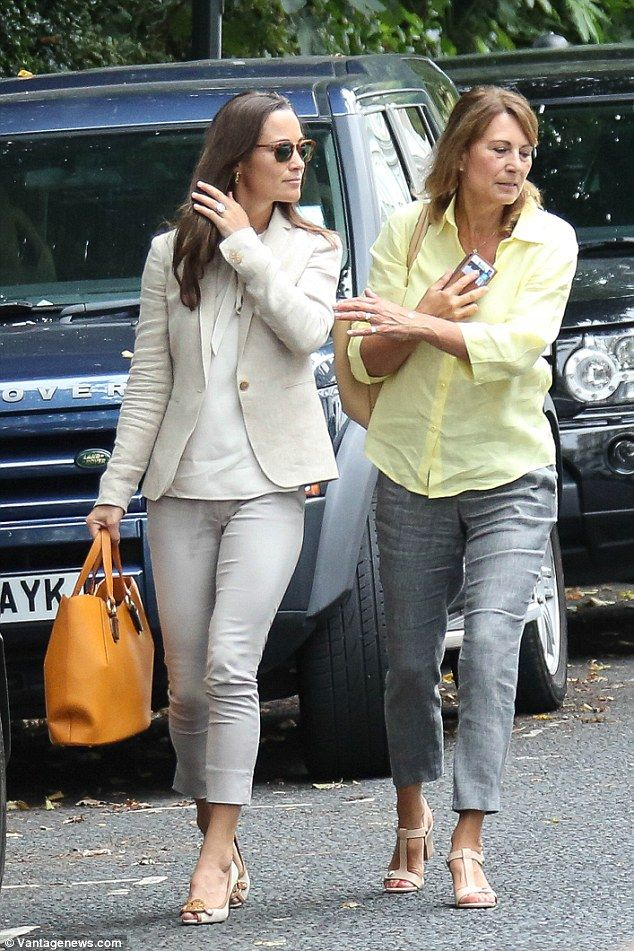 Follow Pippa's lead in a pair of office appropriate wedge shoes. Click 'Visit' to buy now. #DailyMail