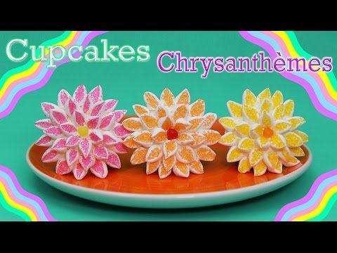 Cupcakes en forme de fleur, Chrysanthèmes