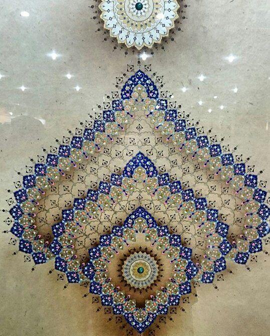 """169 Likes, 7 Comments - İslam & Sanat (@islamsanat) on Instagram: """"Tezhib: Zehra Artuç 18. Devlet Türk Süsleme Sanatları Yarışmasında ödül aldığı eseridir. Fotoğraf…"""""""