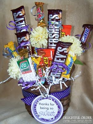 Gift Basket Idea: Candy Bouquet Tutorial