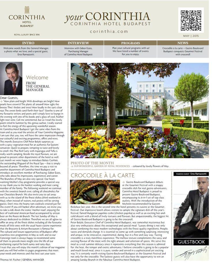 Your Corinthia Magazine 2015 May https://www.scribd.com/doc/264203626/Your-Corinthia-Magazine-2015-May