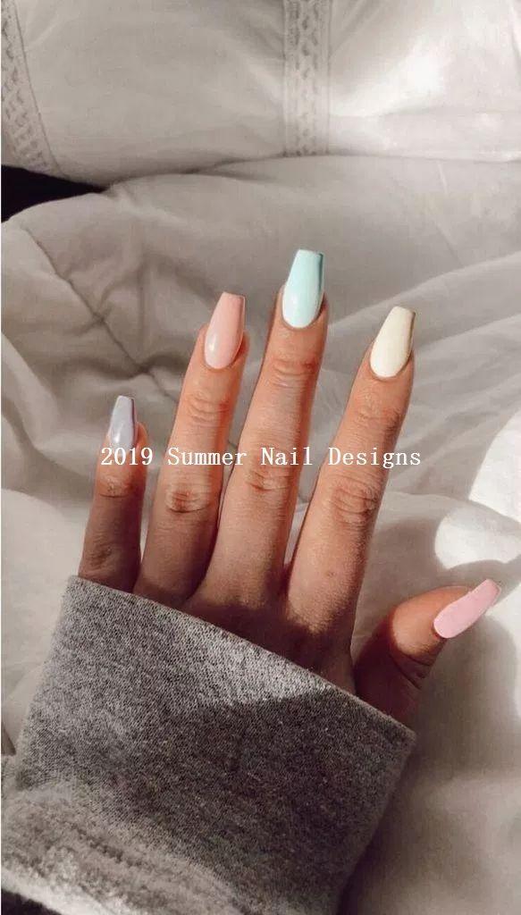 33 Cute Summer Nail Design Ideas 2019 Summernaildesigns Nailart Acrylic Nails Coffin Short Short Acrylic Nails Designs Dream Nails