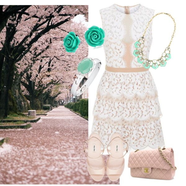 Springtime fresh splash! by raimbow-colors on Polyvore featuring moda, BCBGMAXAZRIA, Miu Miu, Chanel and Bling Jewelry