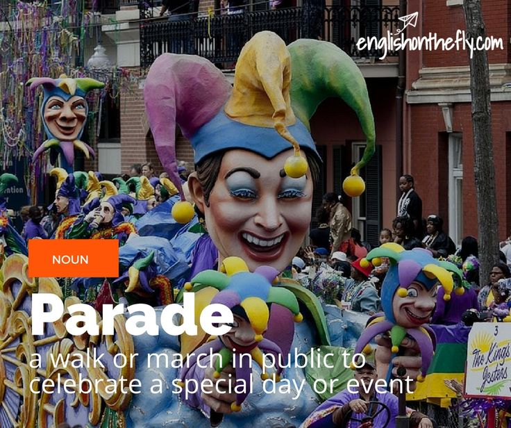 English vocabulary for ESL and EFL students: Parade
