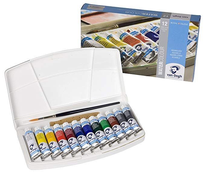 Amazon Com Van Gogh Watercolor Paint Set Plastic Pocketbox