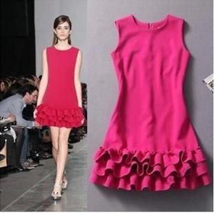Find More Apparel & Accessories Information about Fashion Woman Summer Elegant A line Ruffles Cute Hot pink Party Dress Mini Floral Black Tank Prom Dresses 2014 disigual S L,High Quality dress up time prom dresses,China dress jeans Suppliers, Cheap dress southern from Rosy May Gift on Aliexpress.com