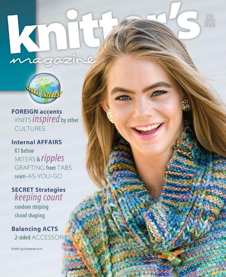 Knitter's Magazine Fall 2015 Agathe ripples Shawl stratégie