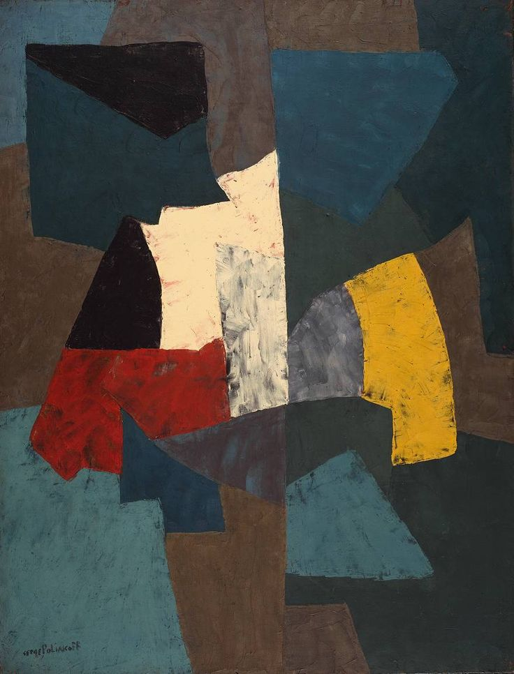 Serge Poliakoff Abstract Composition 1954 oil on canvas