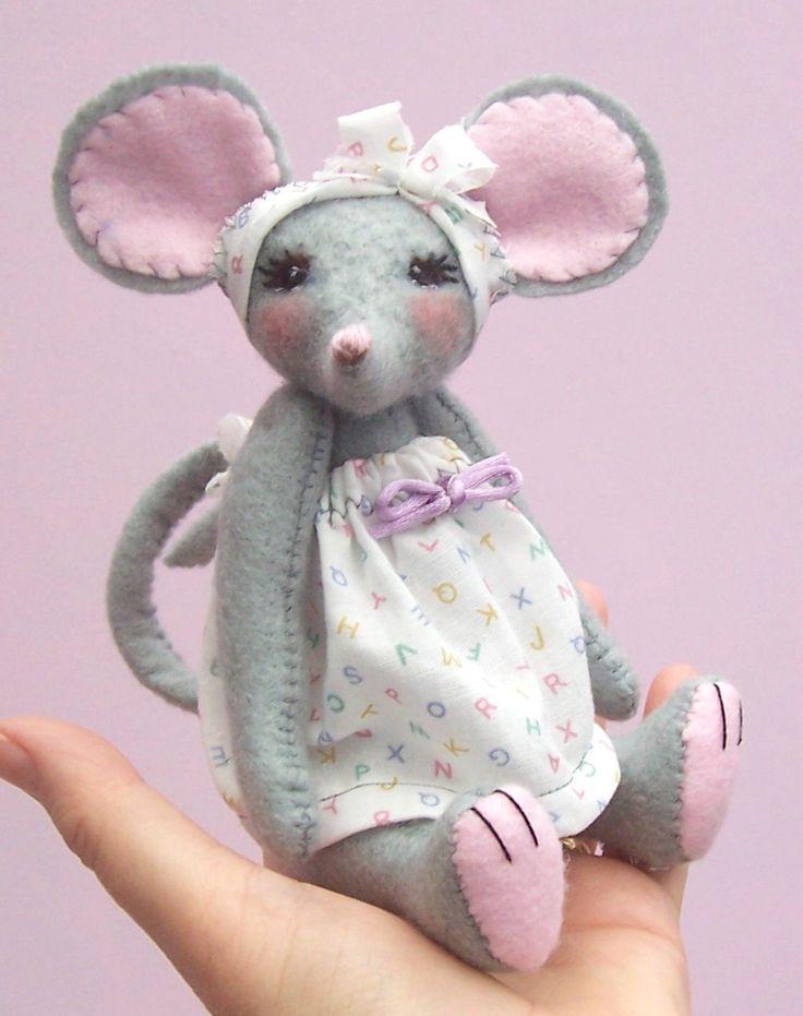 Miss Stitch Soft Toy Mouse