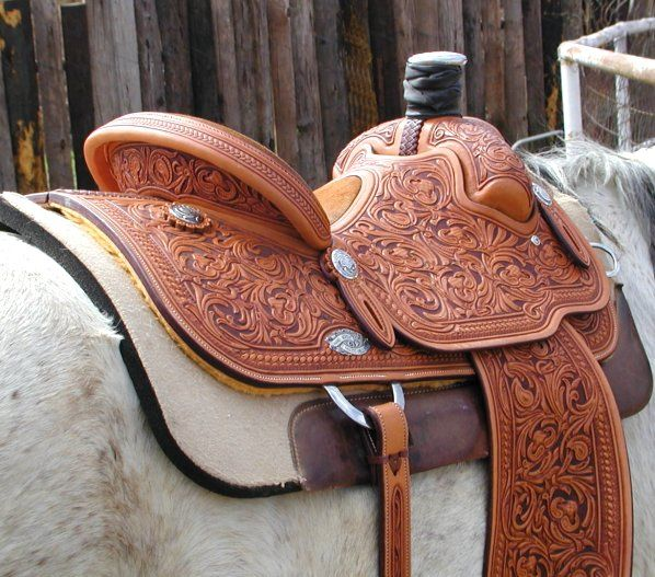 love the engraved saddle