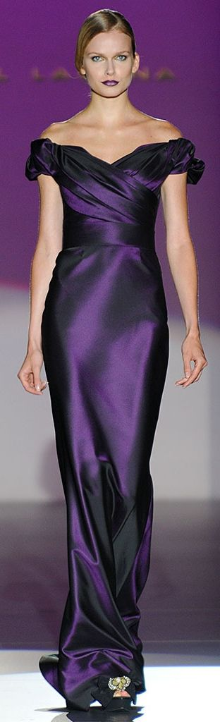 Hannibal Laguna. This is a wonderful simple vibrant colored gown that is practical for everyone.