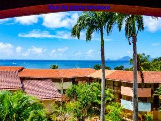 Hauts de Caritan Studio tout confort terrasse vue mer wifi et parking gratuit Anse Caritan Sainte-Anne Martinique (Réf:6169 Studio Martinique SainteAnne)
