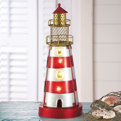 Glass Coastal Lighthouse Lamp
