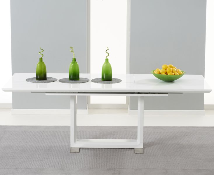 Buy The Bianco White High Gloss Extending Dining Table At Oak Furniture Superstore