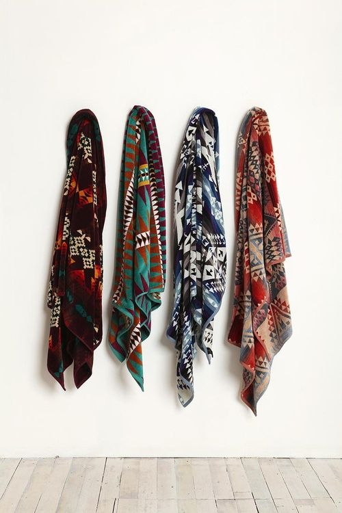 tribal scarves via Quite Continental