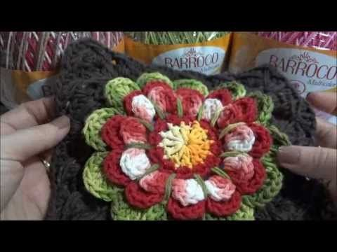 Flor Encanto Barroco parte-1 in spanish i think, but if crocheter, can follow the video