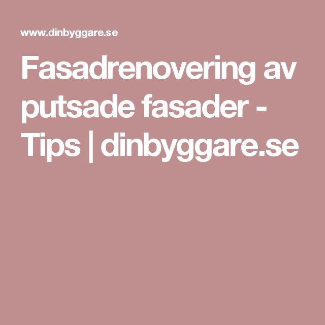 Fasadrenovering av putsade fasader - Tips | dinbyggare.se