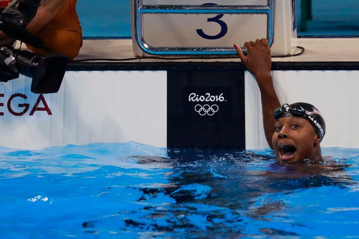 Simone Manuel managed to make history and break a record, all in less than a minute.  Simone Manuel became the first African-American woman to win an individual event in Olympic swimming {08.11.16}