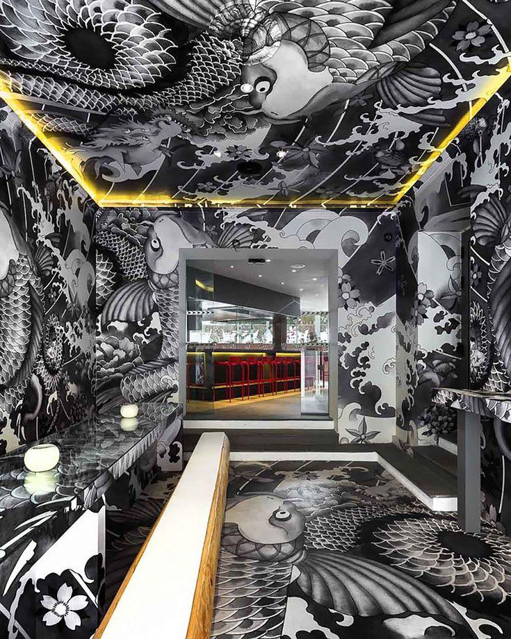 Ресторан с «татуированными» стенами