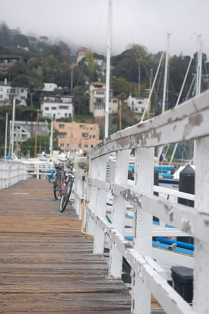 Sausalito, California. Such a cute little town. Rent bikes in SF and cross the Golden Gate Bridge into Sausalito and take the ferry back.