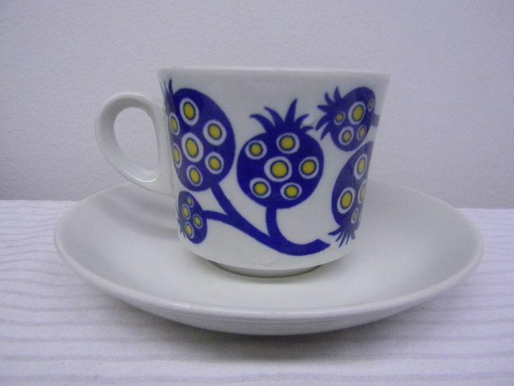 Arabia Finland 1 * Vintage Coffeecup Terttu Design Göran Bäck RARE