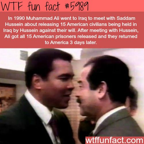 Muhammad Ali meets Saddam Hussein - WTF fun facts