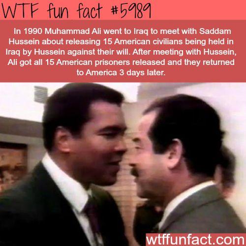 Muhammad Ali meets Saddam Hussein - WTF fun facts - http://didyouknow.abafu.net/facts/muhammad-ali-meets-saddam-hussein-wtf-fun-facts