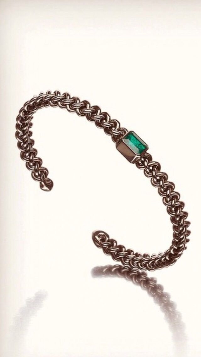 STAHIA#Bracelet#silver#emerald#blackrhodiumfinish#maximos#jewellery