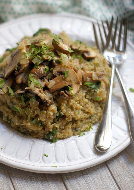 asparagus mushroom quinoa risotto recipe yummly and mushroom quinoa ...
