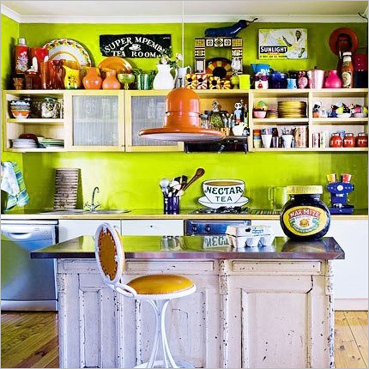 Kitchen , 50 Kitchen Design Ideas which are Bright And Colorful : Colorful Kitchen Design Ideas Colorful Kitchen With Vintage Elements