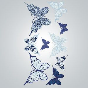 Boho Butterflies Vinyl Wall Decal | World Market